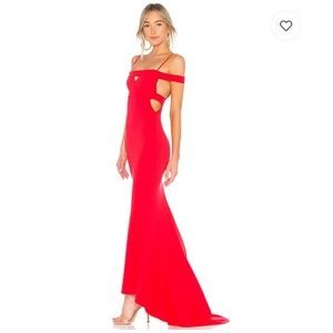 NWT Lovers + Friends Cece Gown in Red Rose